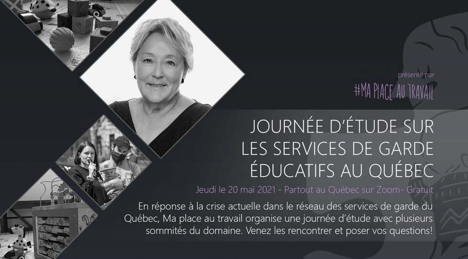 Event poster with a portrait of former Quebec premier Pauline Marois