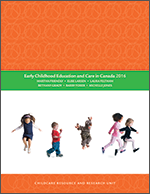 Cover of 'Early childhood education and care in Canada 2016'