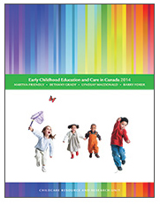 Cover of Early childhood education and care in Canada 2014