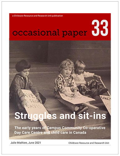 Image of kids with picket signs on cover of Occasional Paper 33