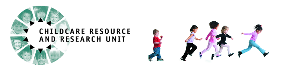 graphic of CRRU logo and kids running