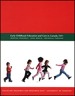 """cover image of """"Early childhood education and care in Canada 2001"""""""