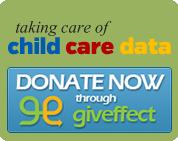 Taking Care of Child Care Data fundraising logo
