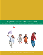"cover image of ""Early childhood education and care in Canada 2008"""