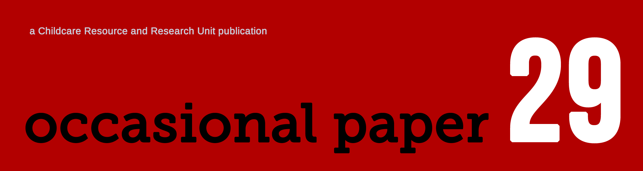 Occasional paper 29 logo