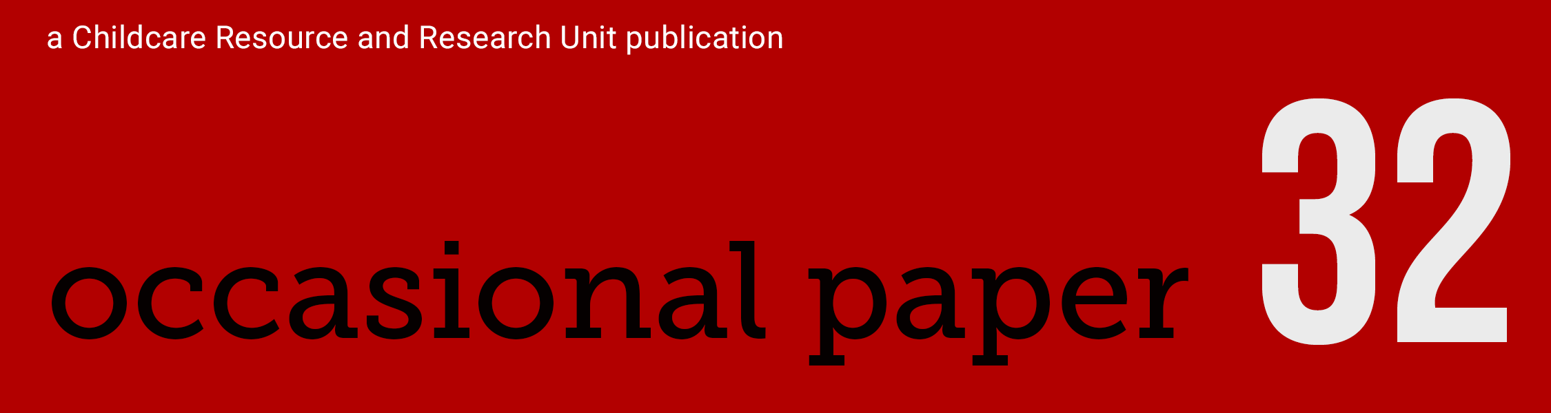 Banner for Occasional Paper 32