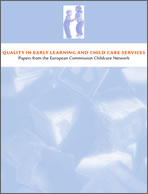 """Image of cover of """"Quality in early learning and child care services"""""""