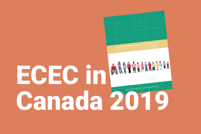 Cover of 'Early childhood education and care in Canada 2019'
