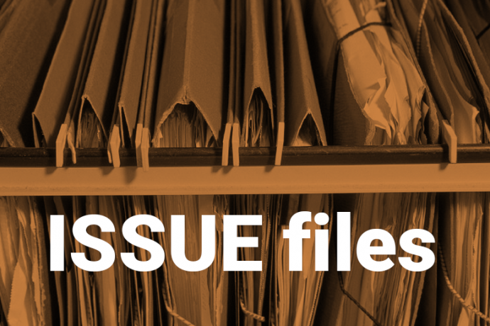 image of file folders with title 'issue files'